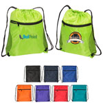 Drawstring Backpack with Mesh Side Panels