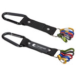 Aluminum Carabiner Strap with Color-Code Key Clips