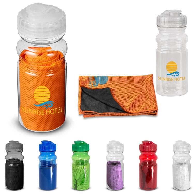 Cooling Towel in Water Bottle