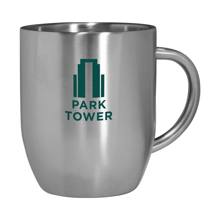 Tasse à café en acier inoxydable à double paroi 12 oz