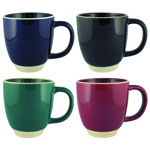 Tasse en céramique Halo fini brillant en couleur solid 12 oz