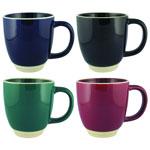 Gloss Solid Colour Halo Ceramic Mug 12 oz