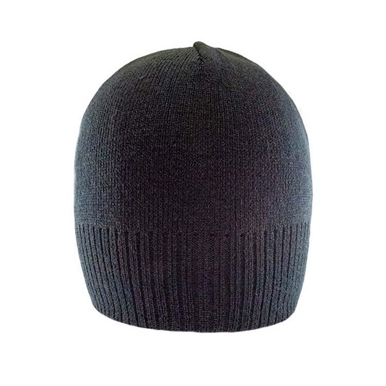 Tuque en tricot acrylique avec ourlet côtelé