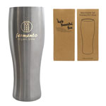 Brewmaster Tall Stainless Pint Glass 17 oz