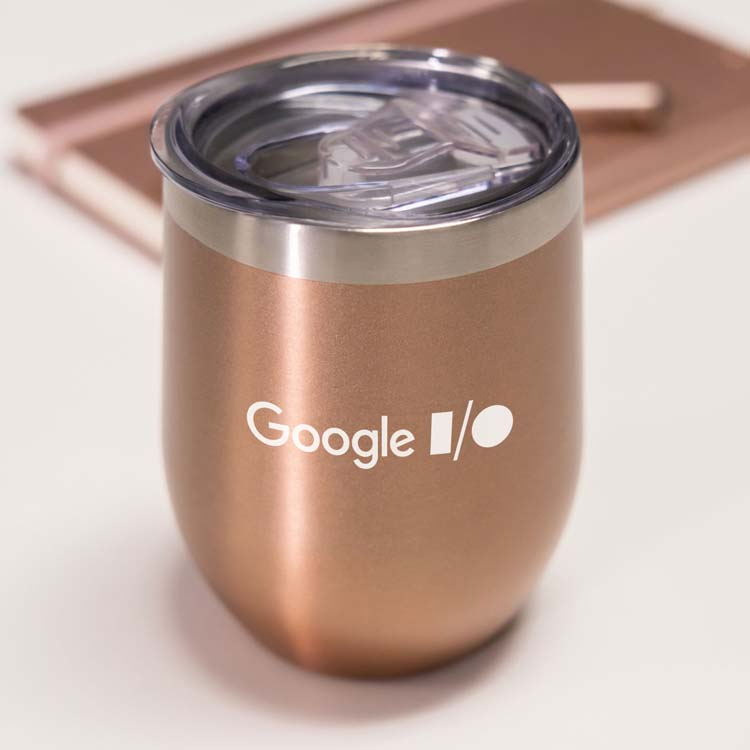 Small Talk Metallic 12 oz Stainless Steel Stemless Cup #4