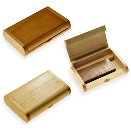 Boîte cadeau en bois pour clé USB
