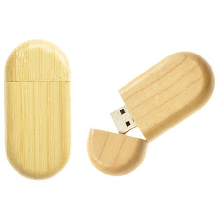 Clé USB arrondie en bois