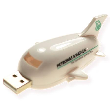 Clé USB en forme d'avion de ligne