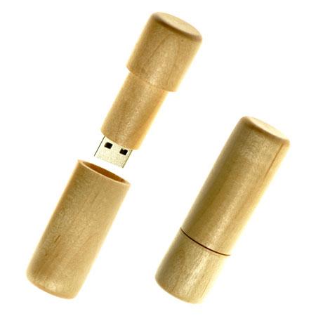 Clé USB cylindre en bois