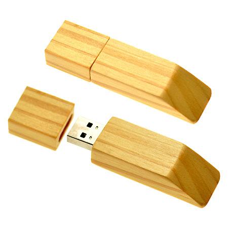 Clé USB en bois avec logo