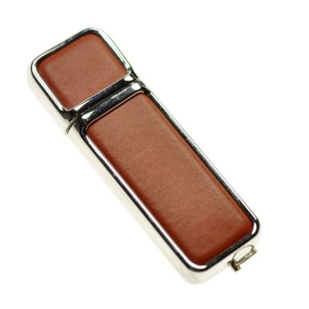 Clé USB en cuir avec capuchon