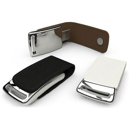 Clé USB en cuir avec logo