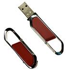 Clé USB en cuir avec mousqueton