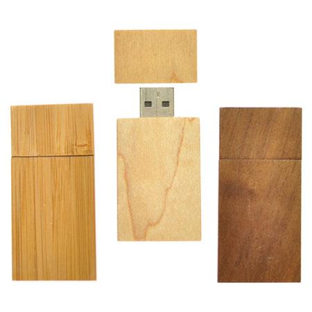 Clé USB rectangulaire en bois