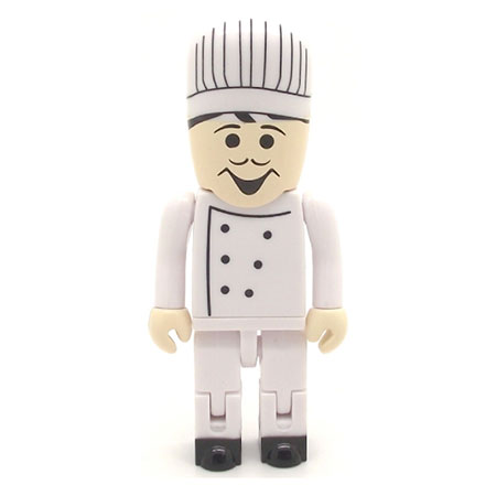 Personnage USB chef cuisinier