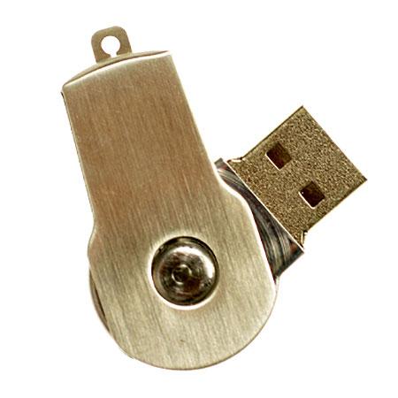 Petite clé usb pivotante en acier inoxydable